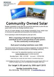 Community Owned Solar Panels